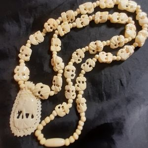 Jewelry - Antique Elephant Necklace- please note not Ivory.
